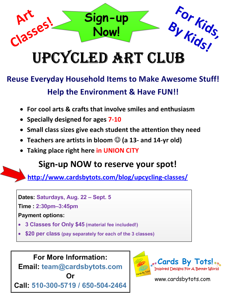 Upcycled Art Club